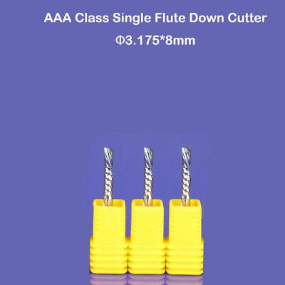 3pcs Aaa Left Hand Single Flute Pcb Milling Cutter Cnc Router Bit 3.175mm X 8 Mm