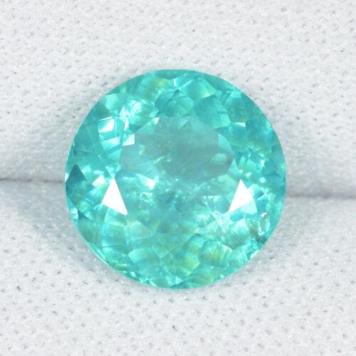 3.10 ct SHIMMERING RARE BLUE GREEN NATURAL APATITE GEMS - ROUND - See Vdo !!