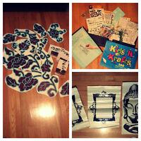 Albums, matériaux de scrapbook et stickers pour murs