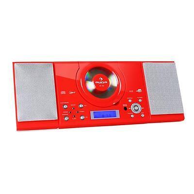 flache Stereoanlage mit Mp3-CD-Player, Radio mit Weckfunktion, LCD-Display & Uhr (Uhr Mit Cd-player)