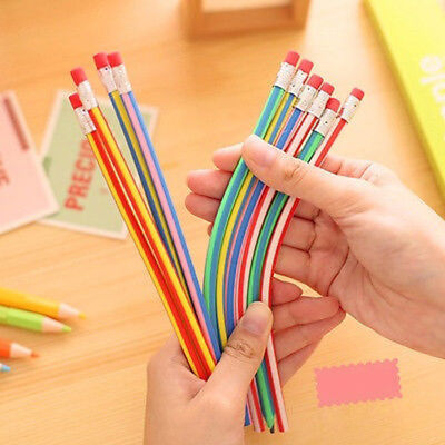 10Pcs Creative Soft Magic Pencil Colorful Set Flexible Bending Kids Writing Gift