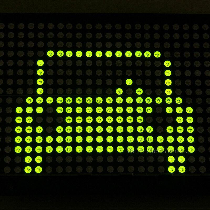 2pcs P7.62 24X16 Green LED Dot Matrix Unit Board  LED
