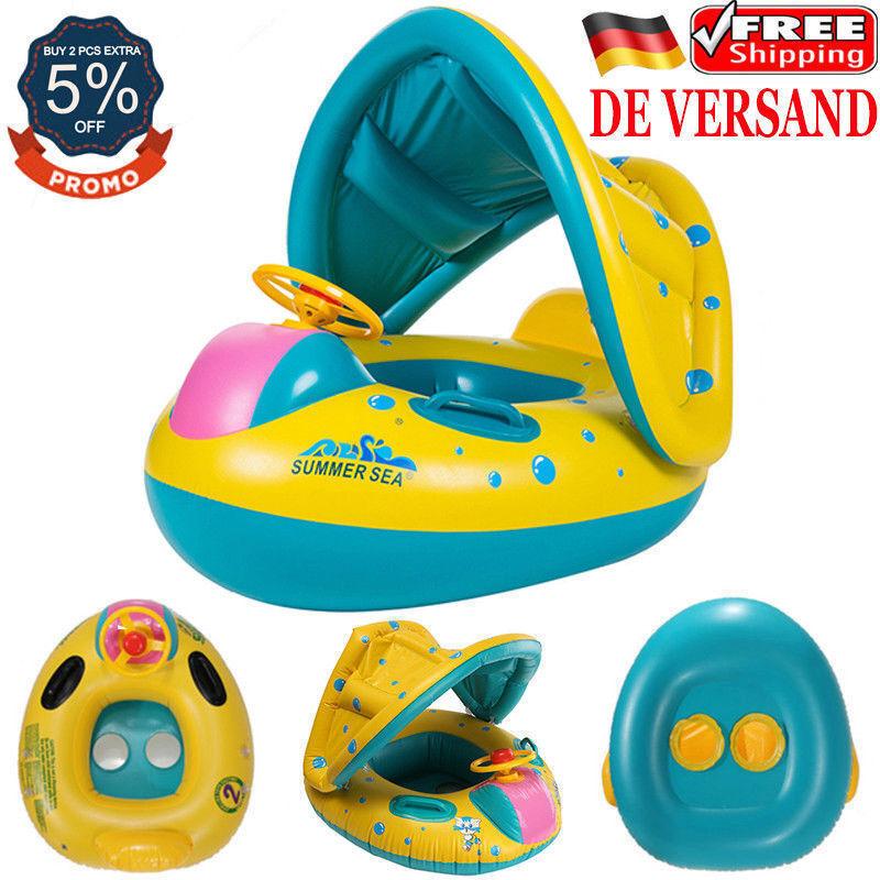 DE Baby Kinder Sonnenschutz Schwimmring Schwimmhilfe Schwimmsitz Schwimmreifen