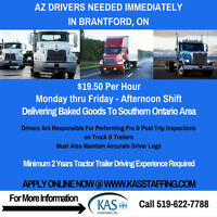 AZ Drivers Needed in Brantford, ON