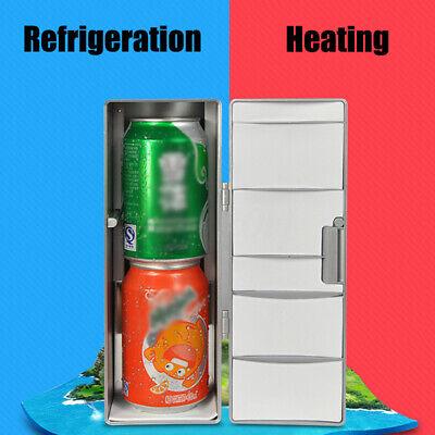 Mini Refrigerator Portable USB Fridge Beverage Drink Cans Beer Cooler Warmer New