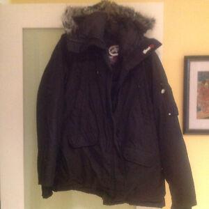 Ecko Unltd, 2015 long down winter jacket, with fur hood like new