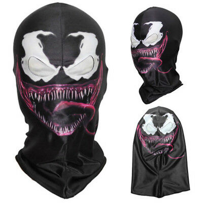 US SHIP! Venom Mask Amazing Spider Man 3 Hoods Halloween Cosplay Full Head - Halloween Spider Mask