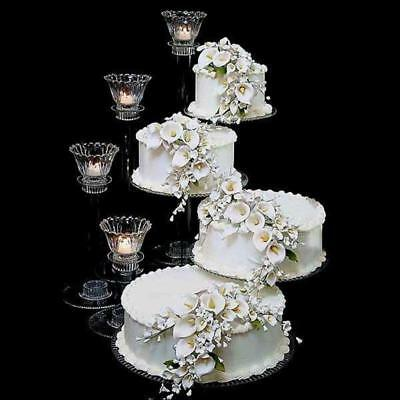 Tiered Cake Stand (4 TIER CASCADE WEDDING CAKE STAND SPIRAL (STYLE)