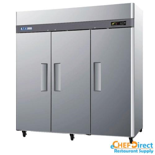 """Turbo Air M3r72-3-n 78"""" 3 Door Reach-in Refrigerator"""