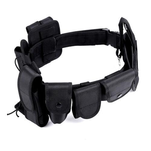 Police Security Guard Belt Set Modular Enforcement Equipment Heavy Duty Tactical