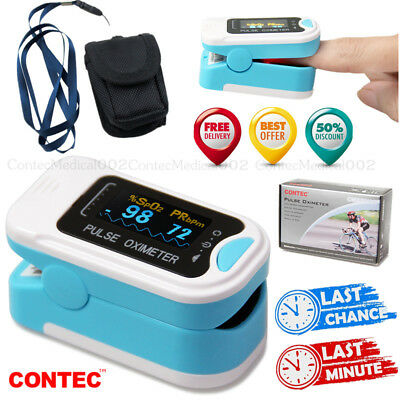 Finger Tip Pulse Oximeter Spo2 Heart Rate Monitor Blood Oxygen Sensor Meteroled