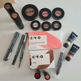 Brand new c.y.o. 'full face essentials' set of 18 items make up kit