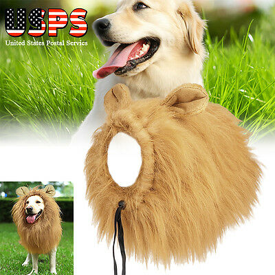 Pet Costume Lion Mane Wig for Dog Cat Halloween Dress up Pet Toys Christmas
