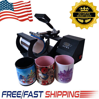 Coffee Mug Heat Press Machine Sublimation Transfer For 11oz Diy Cup Kids Gift Us