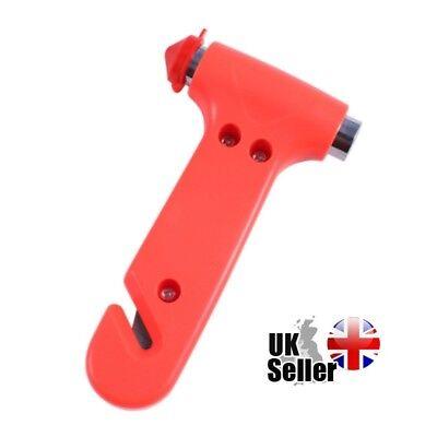 2 in 1 Rescue Me Car Safety Emergency Tool Glass Breaker Hammer SeatBelt Cutter