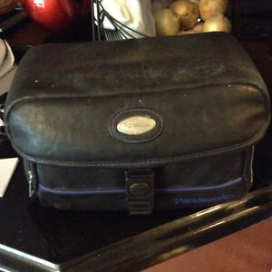 Vtg Panasonic camcorder with leather case