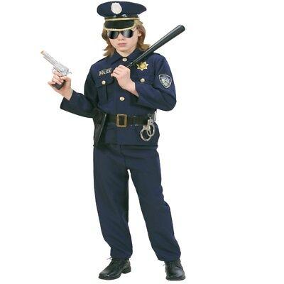Polizist Polizei Jungen Kinder Kostüm - Police Offizer - Karneval Fasching NEU
