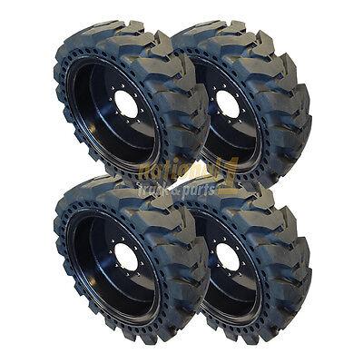 12-16.5 33x12-20 Tire Skid Steer Solid Tires 4 Solid Skid Steer Tires 12x16.5