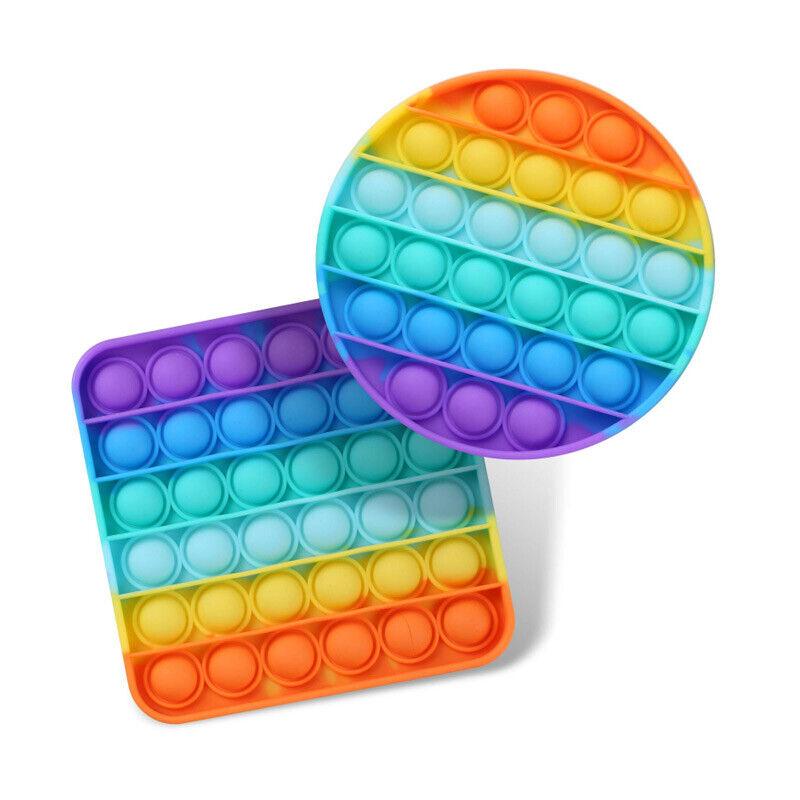 Popit Fidget Toy Push Bubble Sensory Stress Relief Kids Family Games Rainbow Games