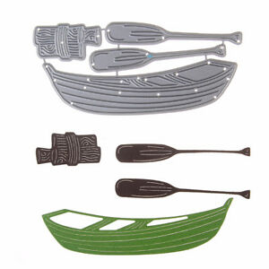 4pc Set of boat paddles metal cutting die  for scrapbooking- $12