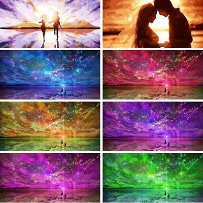 Aurora Couple DIY Paint By Number Kit Digital Oil Painting LOVE Art Home (Aurora Kit Number)