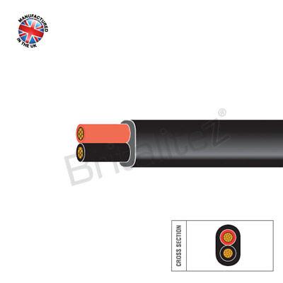 4.5MM, 100M, Negro y Rojo Pared Delgada 42Amp 2 Núcleo Auto Cable...