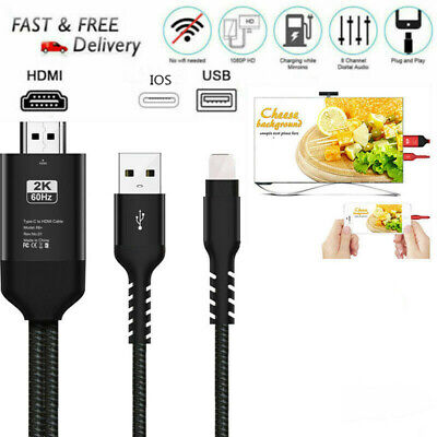 For IOS To HDMI Cable Digital AV TV Adapter For iPhone 6 7 8 Plus X XS XR Ipad