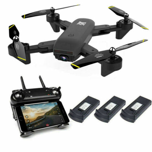 Cooligg Quadcopter Drone With HD Camera Selfie WiFi FPV Foldable RC 3 Batteries