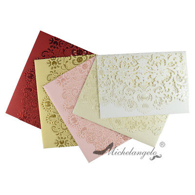 Personalized Laser Cut Flower Party Wedding Invitations Greeting Cards Envelopes](Personalized Wedding Invitations)
