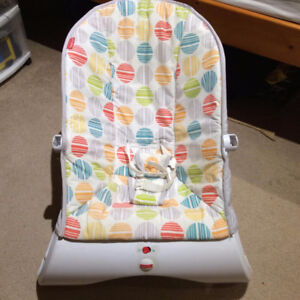 Fisher-price rocker, infant shoes