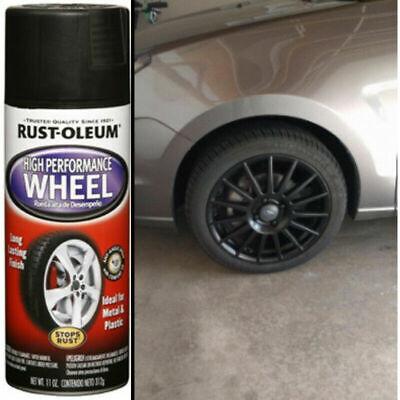 Automotive Aluminum Wheel Spray Paint Smooth Finish Matte Black Clear Car Coat (Clear Coat Spray Paint)