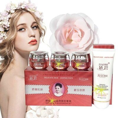 4 In 1 JiaoBi Jiao Yan Cosmetic Set Moisturizing Anti Wrinkle Face Cream Lotion