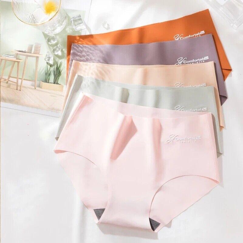 Frauen Höschen Sexy Dessous Nahtlose Slips Ice Silk Girls Unterwäsche Unterhosen