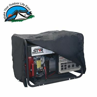Water Resistant Outdoor Black Vinyl Generator Cover Large
