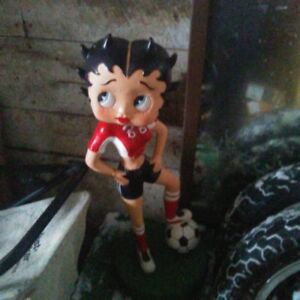 Betty Boop Soccer Statue