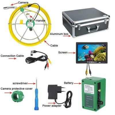 7lcd 6w Led Pipe Inspection Video Camera 20m Drain Pipe Sewer Inspection System