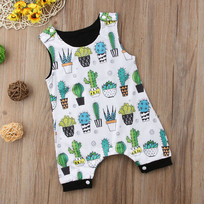 US Newborn Infant Baby Boys Girls Cactus Romper Jumpsuit Bodysuit Sunsuit Outfit](Cactus Outfit)