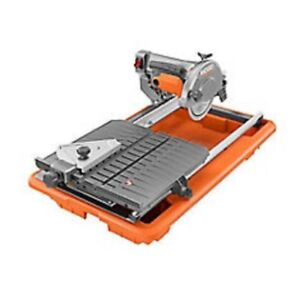 """RIDGID 7"""" Portable Wet Tile Saw with Stand and Laser System"""