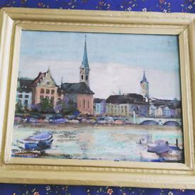 T F Allen oil painting