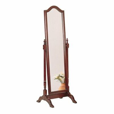 Bowery Hill Arched Top Cheval Mirror in -