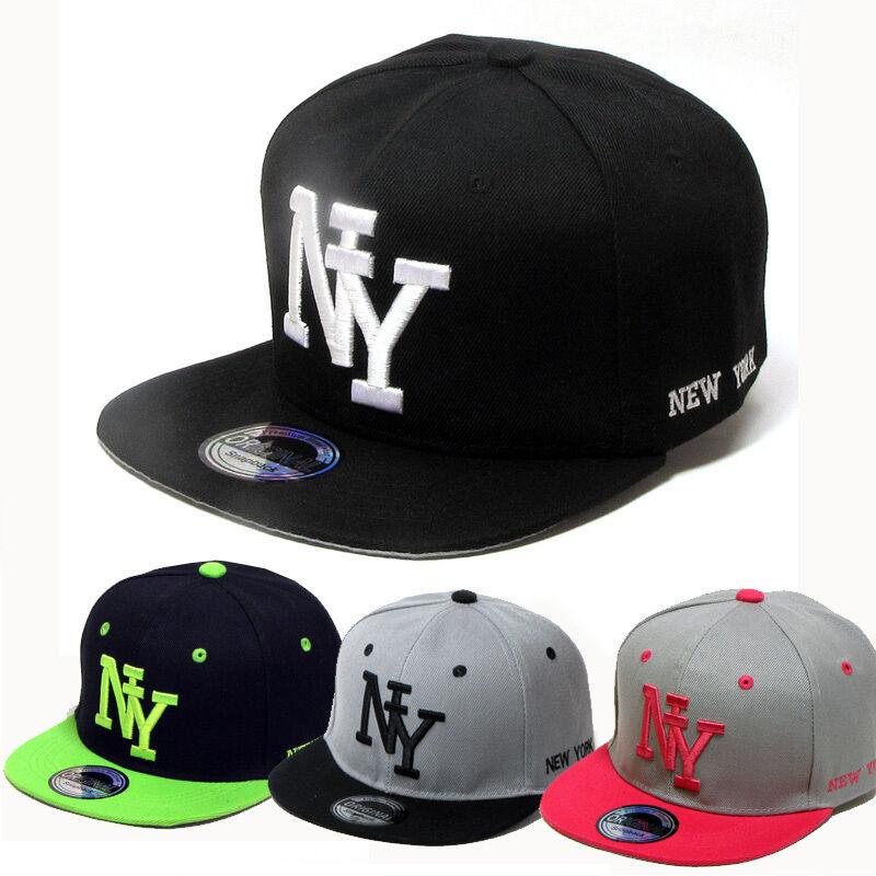 SNAPBACK CAP KAPPE NY NEWYORK CAPS KAPPEN SCHWARZ NEU 2051