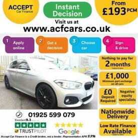 image for 2015 SILVER BMW 116D 1.5 M SPORT DIESEL AUTO 5DR HATCH CAR FINANCE FR £193 PCM