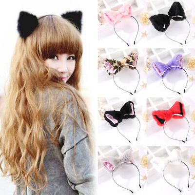 Cosplay Fur New Girl Fox Cat Ears Party Costume Women Cute Headband Hair - Cat Headband