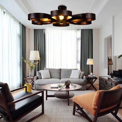 6 Lights Retro Metal In Copper or Rust Choice Semi Flush Mount Ceiling Fixtures Copper Semi Flush Ceiling Light