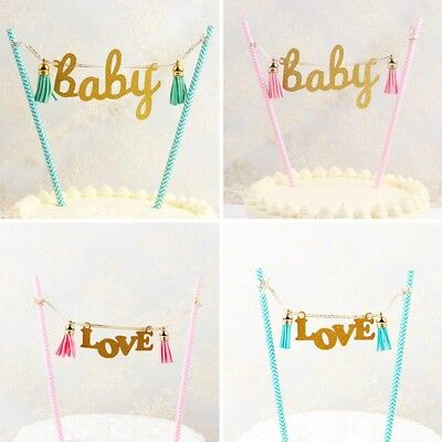 Cake Cupcake Topper Banner Bunting For Birthday Party Boy Girl Baby Shower - Cupcake For Baby