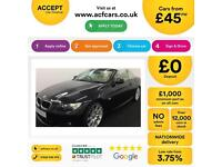 Black BMW 320i M SPORT Convertible 2010 FROM £45 PER WEEK!