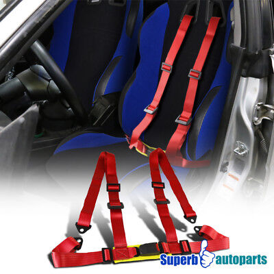 1x JDM Racing Seat Belts 4 Point 4PT Safety Harness