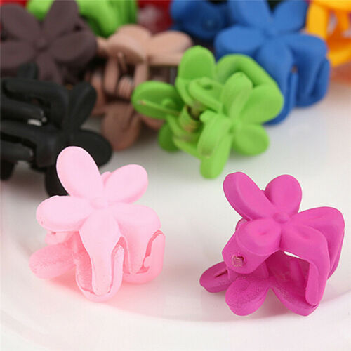 30X Mix Colored Girls Kids Baby Mini Flowers Hair Claws Jaw Clips Hair Access ML