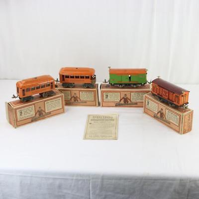 4 Vtg Lionel Trains Orig  Boxes 805 Locomotive 804 Observation 603 Pullman  806