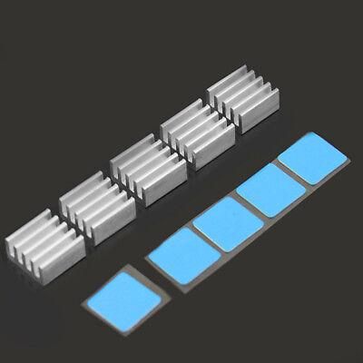 Motherboard-chip (5X Mini Aluminium Kühlkörper 9x9x5 mm für Kühler Motherboard-Chipset Heatsink)